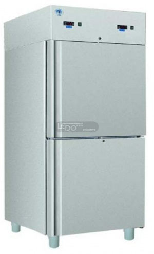 Zvětšit S/S 711 S INOX chladicí nerezová skříň, dělený prostor, na GN